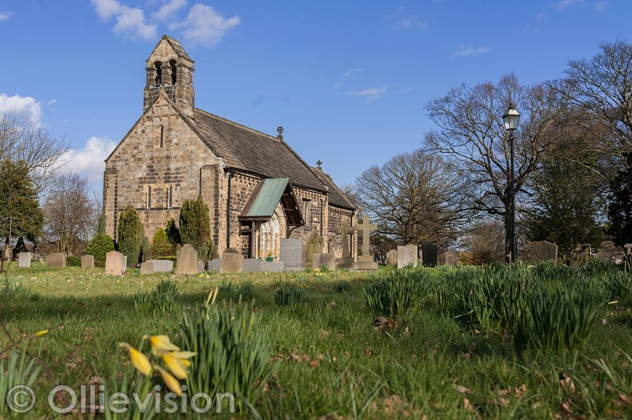 Adel church Leeds, spring scene by Ollievision Photography